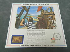History of America in Stamps COLUMBUS ARRIVES IN THE NEW WORLD Postal Panel
