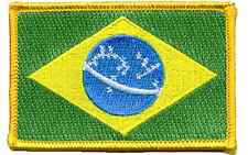 """BRAZIL FLAG COUNTRY PATCH NEW 2 1/4"""" BY 3 1/2"""""""