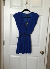 Nordstrom Belted Tiered Mini Dress, By Michelle Kim, Royal Blue, Medium, NWT