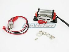 Alloy Aluminum Winch with switch for 1/10 Crawler Truck SCX10 WRAITH RC4WD RED