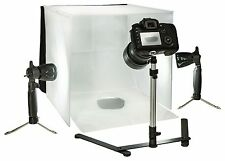 PORTABLE MINI PHOTO STUDIO WITH TENT, CASE, 2 LED LAMPS, MONOPOD, 4 BACKGROUNDS