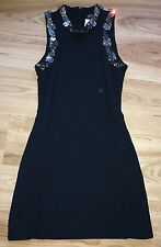 Alexander McQueen Embellished Mirror Neckline FR 38 UK 10 Black Dress NEW Unique