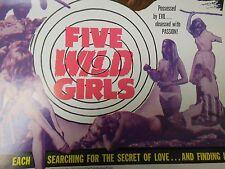 Five Wild Girls (Kids) 1966 Colette Régis, Jacqueline Wolff PRESSBOOK