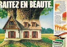 PUBLICITE  1980   XYLADECOR   protection du bois ( 2 pages)