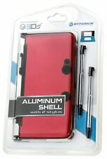 NEW Sealed RED Aluminum Shell with 2 Retractable Stylus Pens for Nintendo 3DS