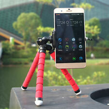 Universal Mini Flexible Stand Tripod Mount + Free Holder For Smart Phone-Red