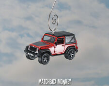 2016 Jeep Wrangler Custom Christmas Ornament 1/64 Black Bear Soft Top '16 JK