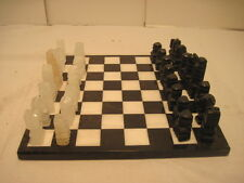OLD VINTAGE MARBLE  CHESS SET BOARD GAME SOLID NICE