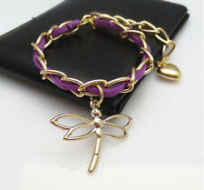New arrival golden color dragonfly Bangle bracelet women Gift jewelry wholesale