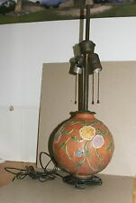 MINT ROSEVILLE LAMP BASE WITH METAL LAMP BASE AND ALL LAMP PARTS
