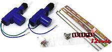 Universal Power Door Lock Kit for 2 Doors - Gun Type 12V Actuators for Vehicles
