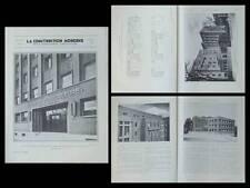 CONSTRUCTION MODERNE N°20 1934 PARIS, 26 BOULEVARD BRUNE, INSTITUT PUERICULTURE