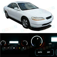 LED Kit Temperature Heater Control White Lights Bulbs for 1998-2002 Honda Accord