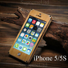 Ultra Thin Luxury Wood Bamboo iPhone 5 5S Case Generic Cover Aluminium Frame