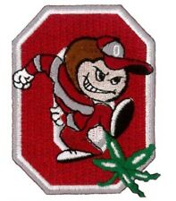 "Ohio State University Embroidered Iron On Patch 3"" x 2.25"""
