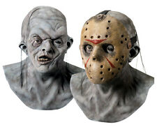 Halloween LifeSize Costume JASON LATEX DELUXE MASK Haunted House NEW