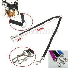 Duplex Double Dog Coupler Twin Lead 2 Way Two Pet Dogs Walking Leash Necklace