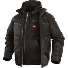 Milwaukee Men 2XL M12 12-Volt Lithium Li-Ion Cordless Black 3-in-1 Heated Jacket