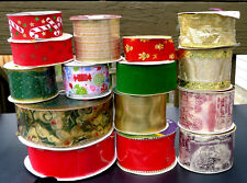 Lot Decorative Ribbon Garland Craft Wreath Gift Decoration Wire Velvet Christmas