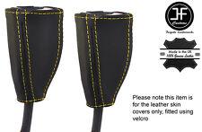 GIALLO tale 2x ANTERIORE Cintura di sicurezza in pelle copre gli accoppiamenti RENAULT GRAND SCENIC 04-09