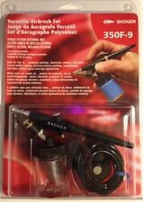 AIRBRUSH SET BADGER 350F-9 sealed in box NEW!! Free First Class Shipping In U.S.