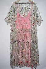 ASOS Curve Salon Embroidered Floral Midi Dress Sheer Size 22 UK 26 Sold Out Plus