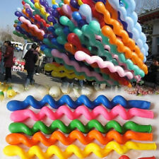 10pcs Twist Spiral Twist Long Latex Balloons Wedding Kids Birthday Party Decor