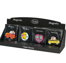 James Rizzi - Magnete Set 4 St. Moon,Taxi,Heart,red Car - by Goebel Neuheit 2016