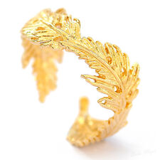 Yellow Gold Filled 14k Ring Feather Warranty Adjustable Wrap Artisan Unusual Chi