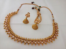South Indian DISHI Fashion gold plated  Necklace Earings Ethnic Jewelry  Set