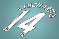 Manchester United Chicharito #14 PREMIER LEAGUE 06-13 White Name/Number Set