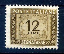 ITALIA 1947 - SEGNATASSE 12 Lire RUOTA NUOVO **
