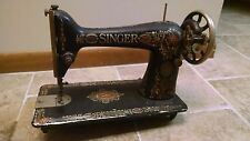 Antique 1921 Singer Model 66 Red Eye Treadle Sewing Machine, Nice Decals-Working