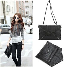 Women Skull Spike Envelope Clutch Purse Lady Handbag Tote Hobo Shoulder Hand Bag