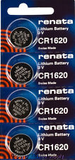 4 pcs CR 1620 Renata Lithium Batteries FREE SHIP