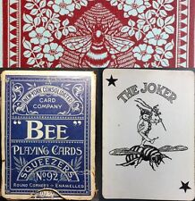 Original Antique BEE Historic Playing Cards 52+Joker NY Poker Deck +Early Box