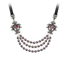 Alchemy Gothic The Palatine Pearls Of The Underworld Necklace Pewter Purple P704