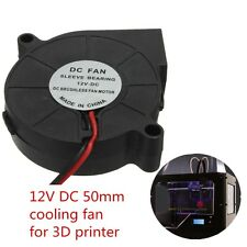 12V DC 50mm Blow Radial Cooling Fan Hotend / Extruder For RepRap 3D Printer