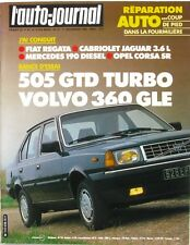 L'Auto-journal n°19-1983-505 GTD TURBO-VOLVO 360-FIAT REGATA-JAGUAR-OPEL-