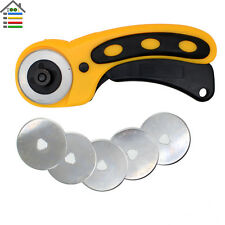 45mm Rotary Cutter Sewing Quilting Patchwork Fabric Leather Craft with 5pc Blade