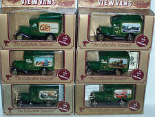 7pc (6 are shown),LLEDO DAYS GONE LP13 MODEL A FORD VIEW VANS. (green color)