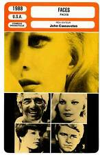 FICHE CINEMA : FACES - Marley,Rowlands,Cassavetes 1968