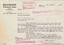WALDAU Wałdowo, Kreis Schwetz-Świecie, Brief 1941, Mühlenwerke Paul Schmidt
