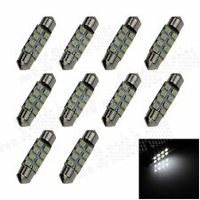 10X White 36MM 8 3528 Festoon Dome Map Interior LED Light Roof Bulb I108