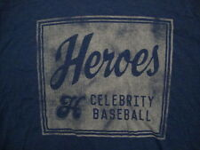Heroes Celebrity Baseball  Sport Fan Soft Blue T Shirt XL