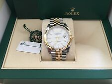 Rolex NIB 126333 41MM SS/YG Datejust White Index Dial w/papers $12,700 Retail