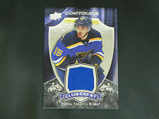 2015-16 UD Contours Club Crest JERSEY Robby Fabbri St. Louis Blues