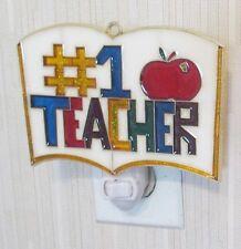 #1 TEACHER NIGHTLIGHT (A GREAT MOTHERS DAY GIFT FOR A TEACHER SUNCATCHER)