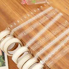 5 Roll/Pack Lace Decor Scrapbooking Washi Tape Adhesive Sticker 1.5cm×3M