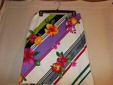 DIDIER PARAKIAN JEANS Multi-Color Fitted Skirt - Size 10